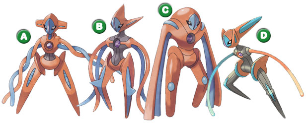 Deoxys Formas Alternativas