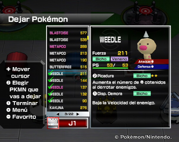 Dejamos a 5 Weedle - Pokémon Rumble