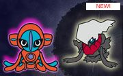Muñecos de Darkrai y Deoxys para el Dream World