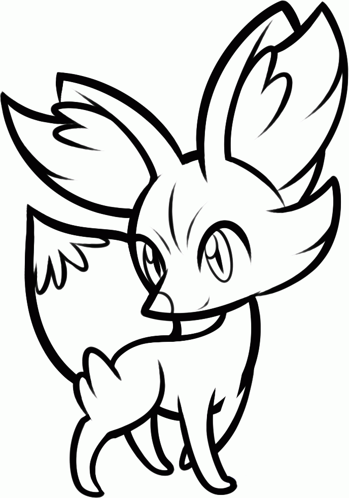 Pokemon fennekin coloring pages ~ Pokémon Eleven: Más dibujos para colorear de Inazuma ...