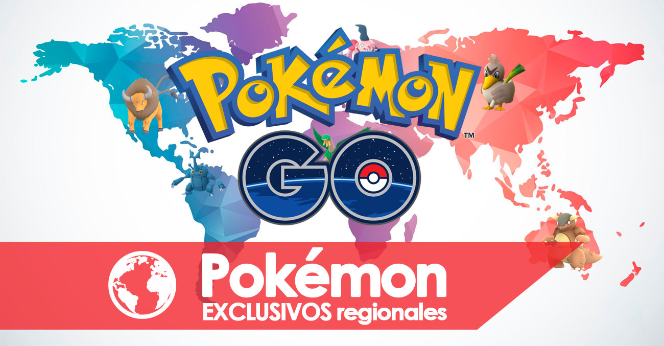Exclusivos Regionales Portada Pokemon Go