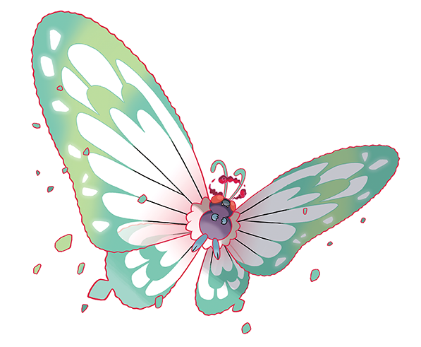 Butterfree Gigamax Artwork Pokemon Swsh