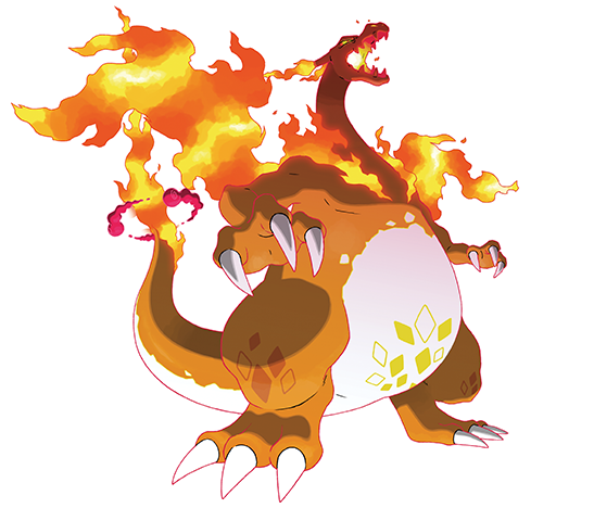 Charizard Gigamax Artwork Pokemon Swsh