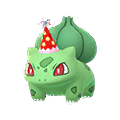 001 Bulbasaur Gorro Fiesta Shiny Pokemon Go