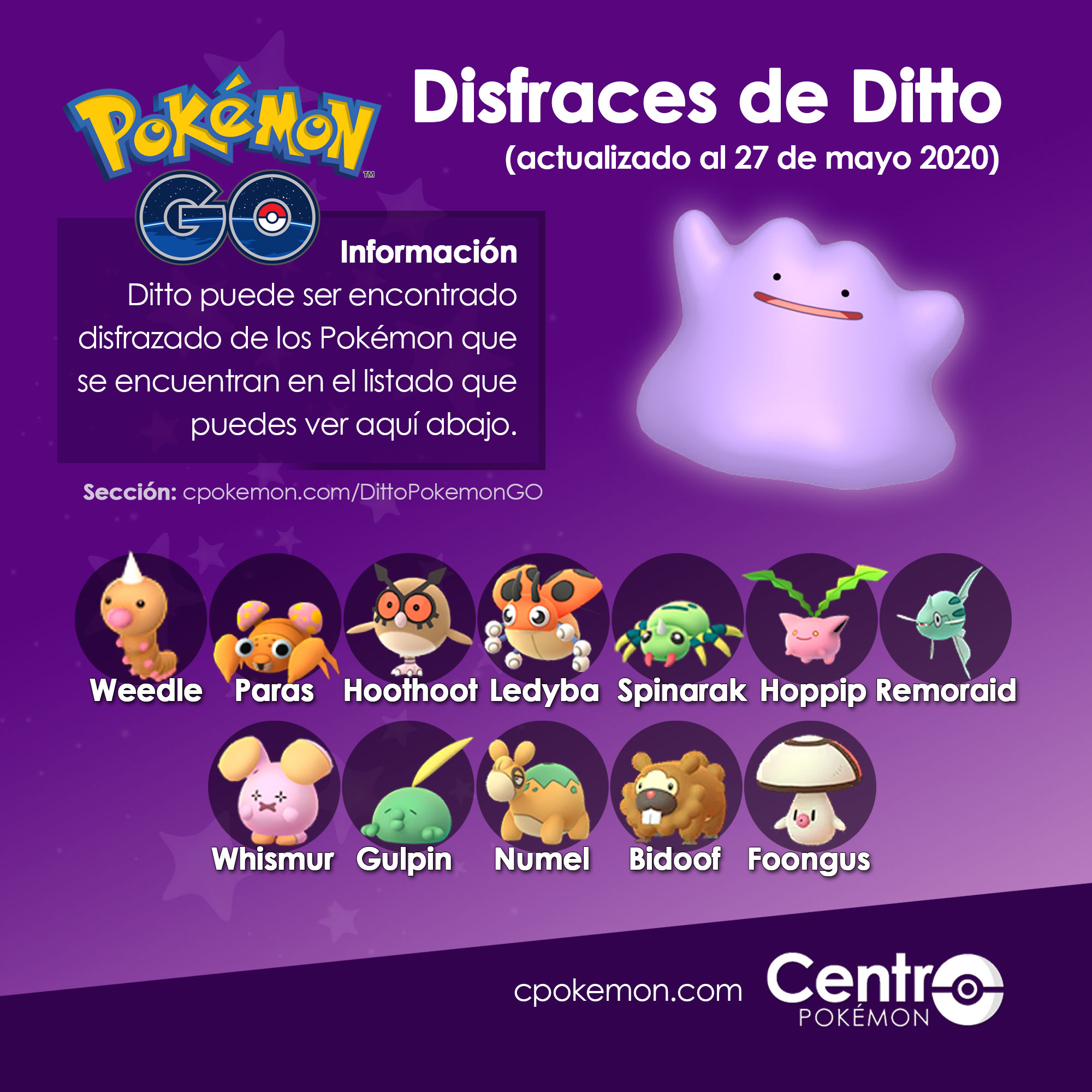 Ditto Disfraces Pokemon Go 27 05 2020