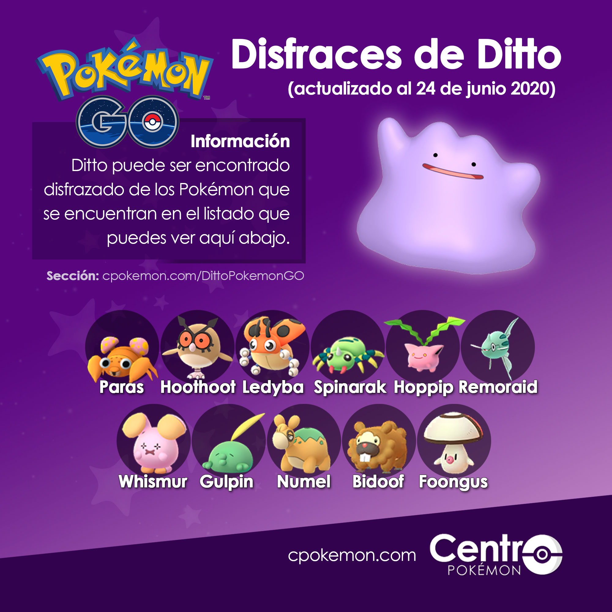 Ditto Disfraces Pokemon Go 24 06 2020