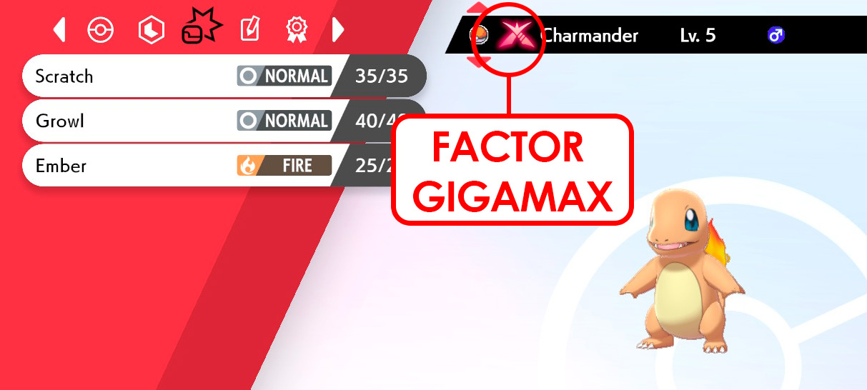 Factor Gigamax Charmander