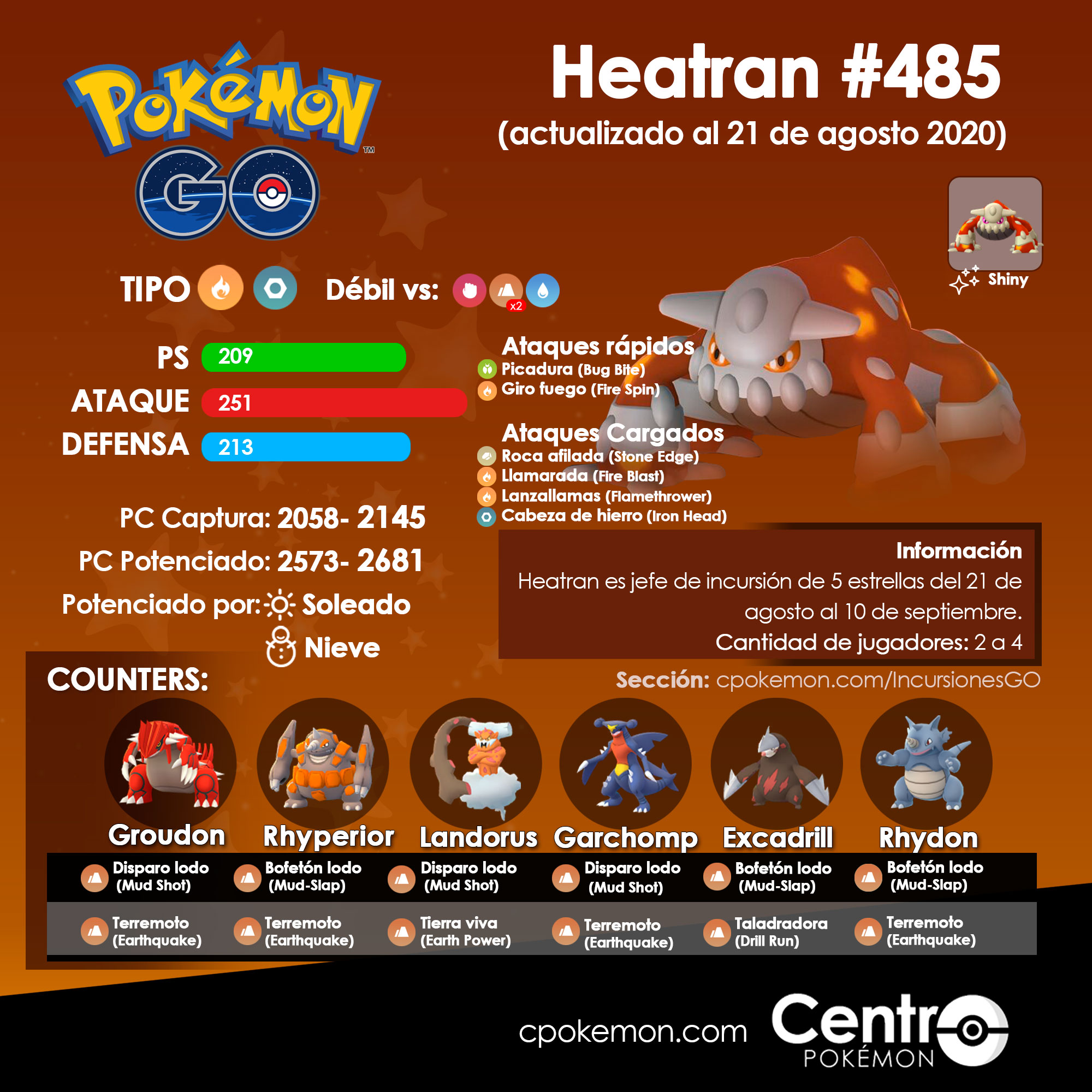 Heatran Counters Pokemon Go