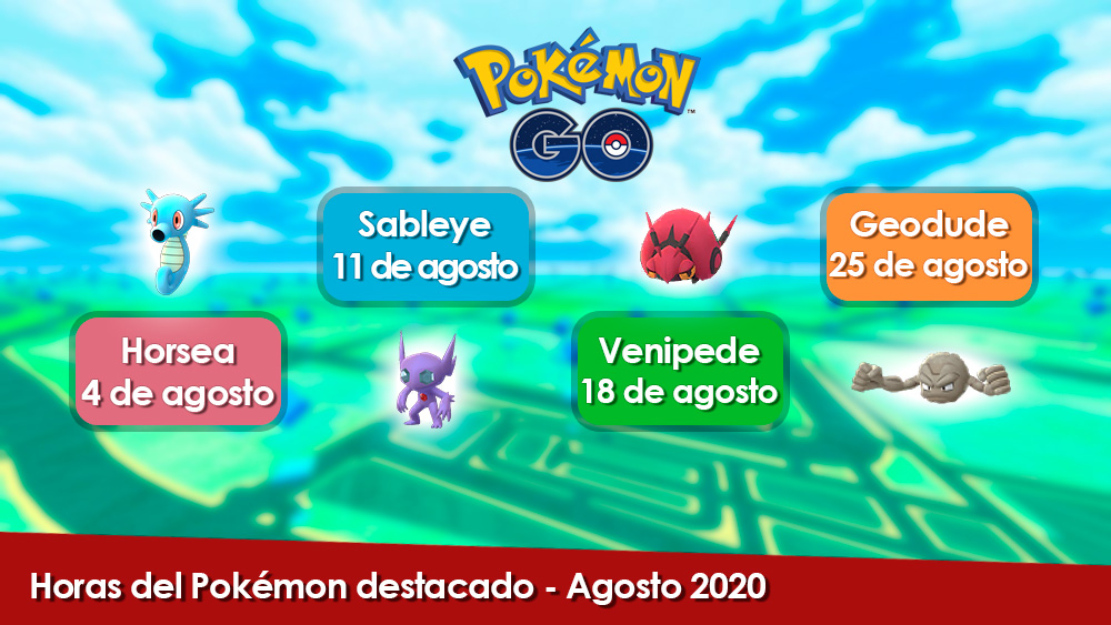 Hora Del Pokemon Destacado Agosto 2020